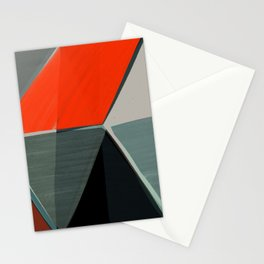 Red and Black Diamonds Stationery Cards