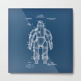 Submarine Armor Patent Blueprint 1915 Metal Print