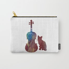 Viola Cat Art Carry-All Pouch
