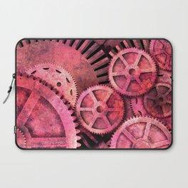 Steampink Pink Steampunk Gears Laptop Sleeve