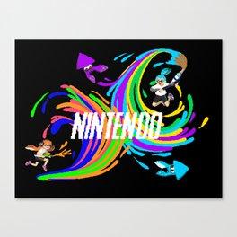 Pixel Splatoon Canvas Print