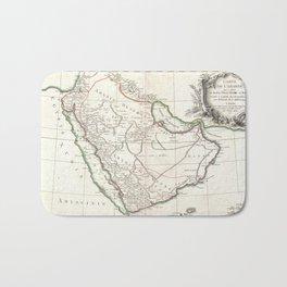Vintage Map of Saudi Arabia (1771) Bath Mat