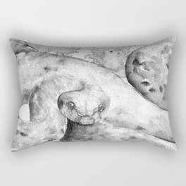 black and white : snake Rectangular Pillow
