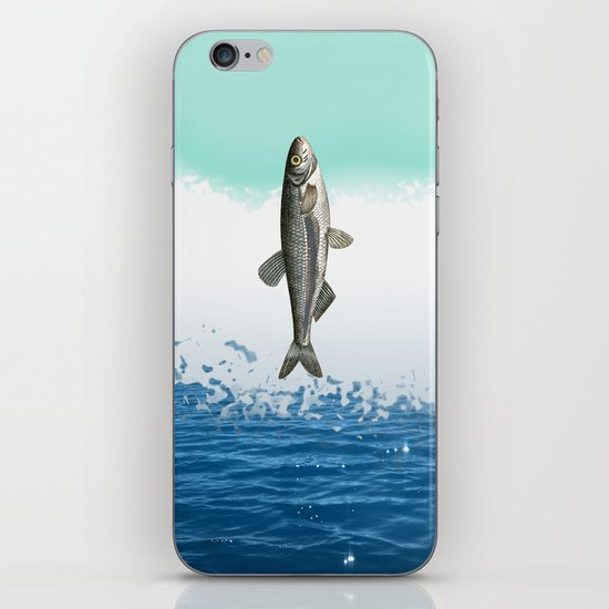 little fish big fish iPhone & iPod Skin