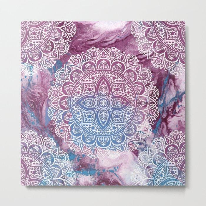 Psychedelic Mandala Metal Print