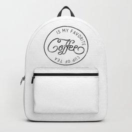 Coffee is my favorite cup of tea Backpack