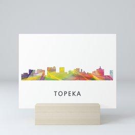 Topeka, Kansas Skyline WB1 Mini Art Print