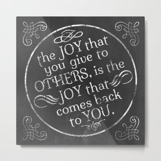 Give Joy  Metal Print