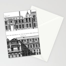 Palais-Royal on the rue St. Honoré 1754 Stationery Cards