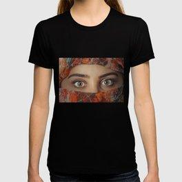Sexy Arabische Frauen Augen mit Schleier Kopftuch Hijab print T-shirt