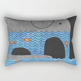 Thirsty Elephant  Rectangular Pillow