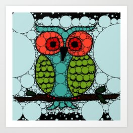 Curiosity Never Killed an Owl Art Print