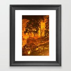 Japanese Autumn Garden Framed Art Print