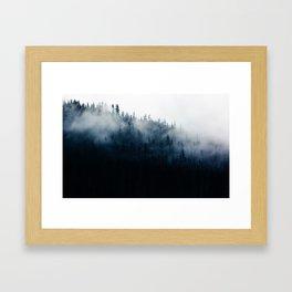 Foggy Mountain Forest (Color) Framed Art Print