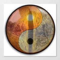 yin yang Canvas Prints featuring yin yang by Vector Art
