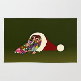 Santa's Cornucopia  Rug