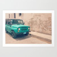 jeep Art Prints featuring Jeep by Kristi Coles