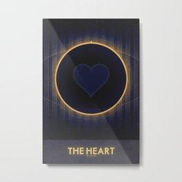 Pluto - The Heart Metal Print