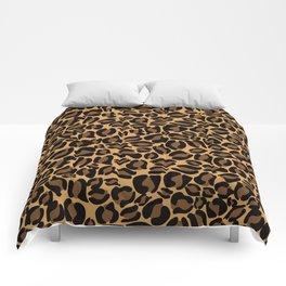 Leopard Print | Cheetah texture pattern Comforters