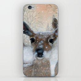 Deer in the Snowy Woods iPhone Skin