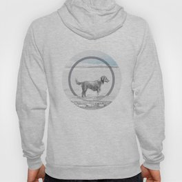 dog wading in fjord Hoody