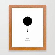 The Solar System (white) Framed Art Print