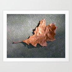 old leaf II Art Print