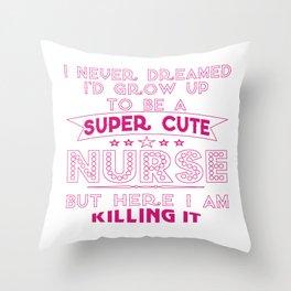 Super cute nurse Throw Pillow