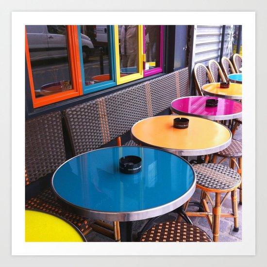 Paris Café Art Print
