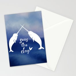 Narwhal Seas the Day Stationery Cards