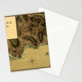 Map Of Grenada 1779 Stationery Cards
