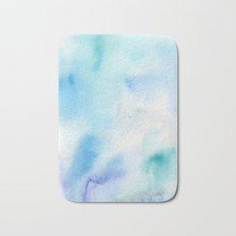 Abstract Watercolor. Shining Ice Bath Mat