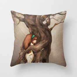 I love you, Old Tree! Throw Pillow