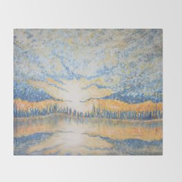 Under a Cloud - Original Impressionistic Painting Throw Blanket