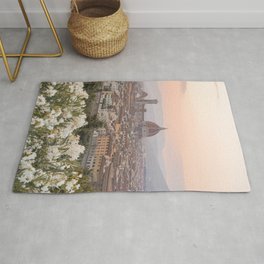 Il Duomo At Sunset Photo | Florence City View In Pastel Colors Art Print | Tuscany, Italy Travel Photography Rug