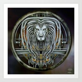 """Astrological Mechanism - Leo"" Art Print"