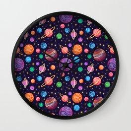 Playful Planets Wall Clock
