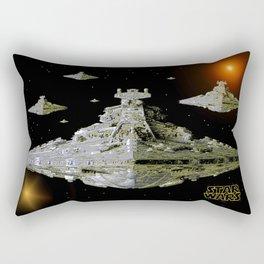 Galactic Battle Cruisers  Rectangular Pillow