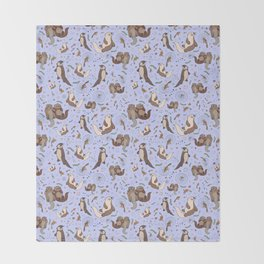 Sea Otters Throw Blanket