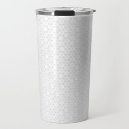 Modern Minimal Hexagon Pattern in Silver Gray and White Travel Mug