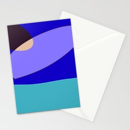 Minimal With Blue Stationery Cards