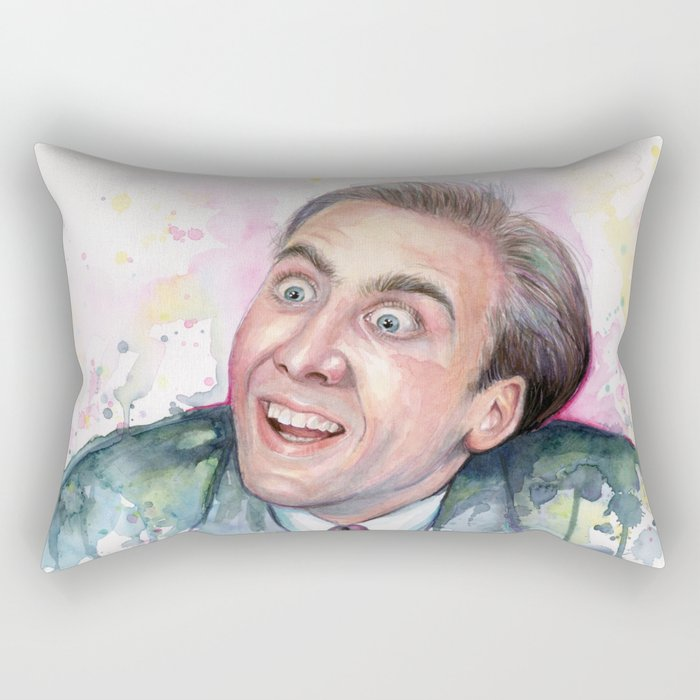 Nicolas Cage You Don't Say Geek Meme Nic Cage Rectangular Pillow