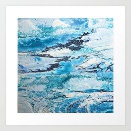 Glacial Landscape Art Print