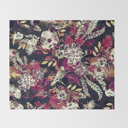 Space Garden II Throw Blanket