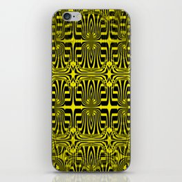 2305 Pattern yellowblack iPhone Skin