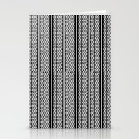 stripe Stationery Cards featuring Herringbone Stripe by Project M