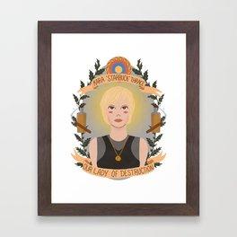 """Kara """"Starbuck"""" Thrace Framed Art Print"""