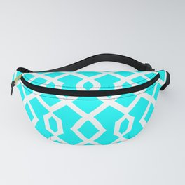 Grille No. 3 -- Cyan Fanny Pack