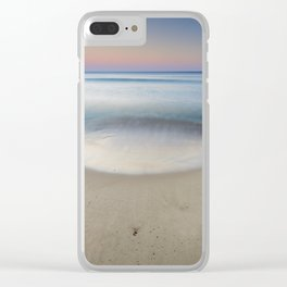 """""""Serenity"""". Sunset at the beach Clear iPhone Case"""