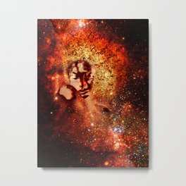 Galaxy Woman Metal Print